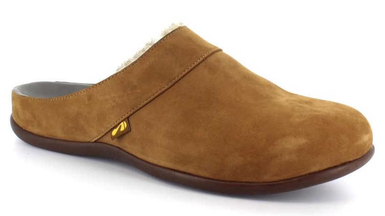 Vienna Classic Tan Slipper. Able to be created with bespoke orthotic built-in by BxClinic and Strive Footwear.